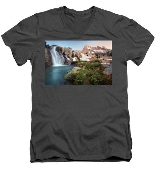 Backcountry Views Men's V-Neck T-Shirt by Nicki Frates