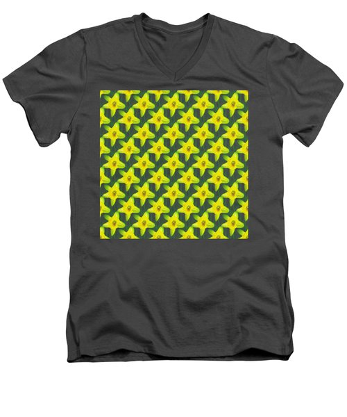 Background Choice Daffodils Men's V-Neck T-Shirt