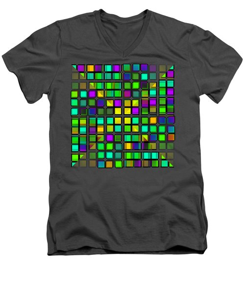Colour Choice Squares 2 Men's V-Neck T-Shirt
