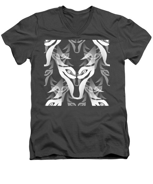 Background Choice White Wolf Men's V-Neck T-Shirt