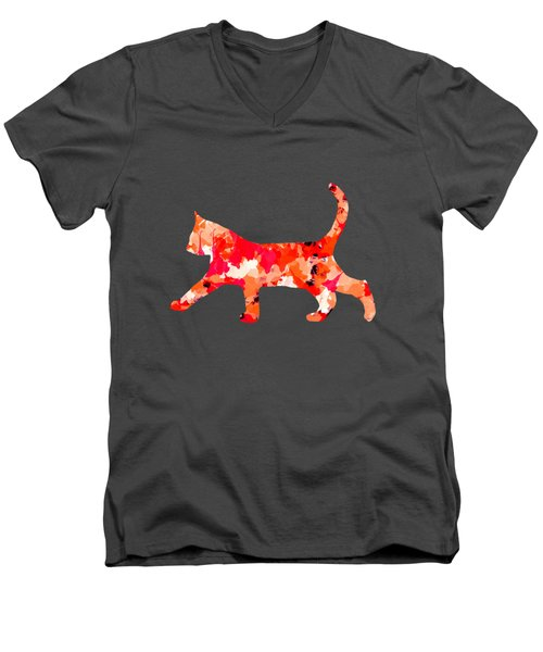 Background Colour Choice Cat Men's V-Neck T-Shirt