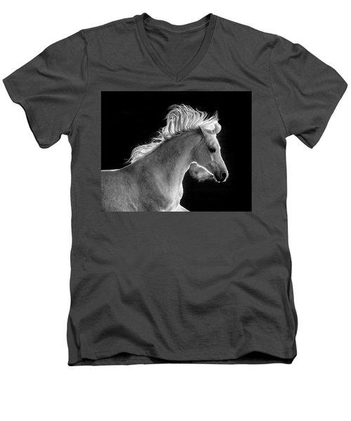 Backlit Arabian Men's V-Neck T-Shirt