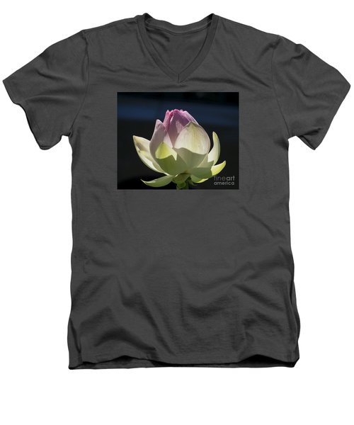 Backlit Lotus Bud 2015 Men's V-Neck T-Shirt
