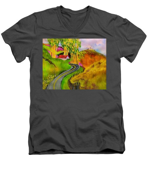 Backroads Sonoma County  Men's V-Neck T-Shirt