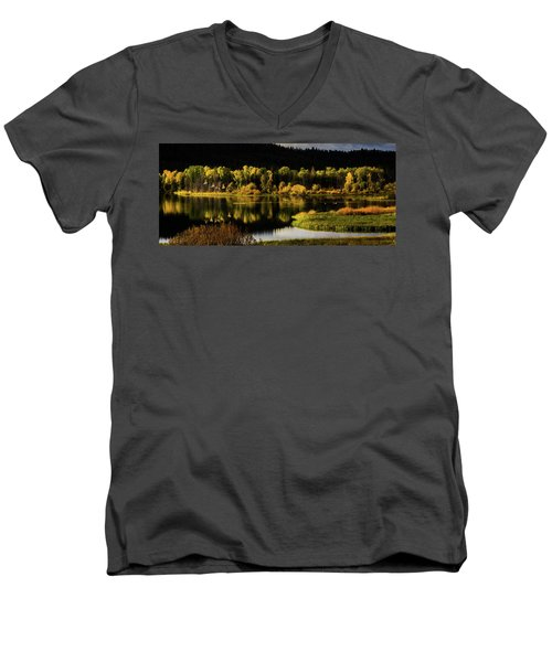 Backwater Blacks At Oxbow Bend Men's V-Neck T-Shirt