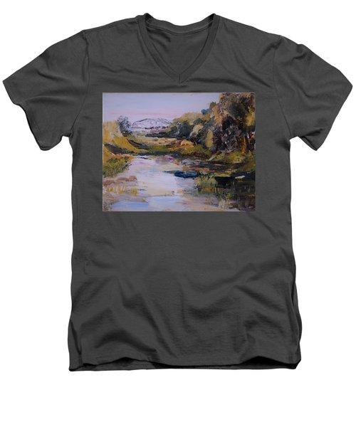 Backwater Near Sertoma Park Men's V-Neck T-Shirt