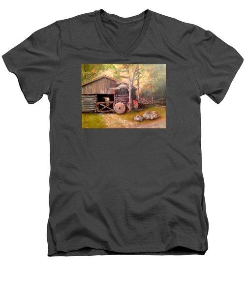 Backwoods Barn Men's V-Neck T-Shirt