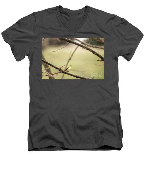 Backyard Yellow Men's V-Neck T-Shirt