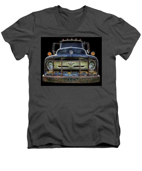 Bad 56 Ford Men's V-Neck T-Shirt