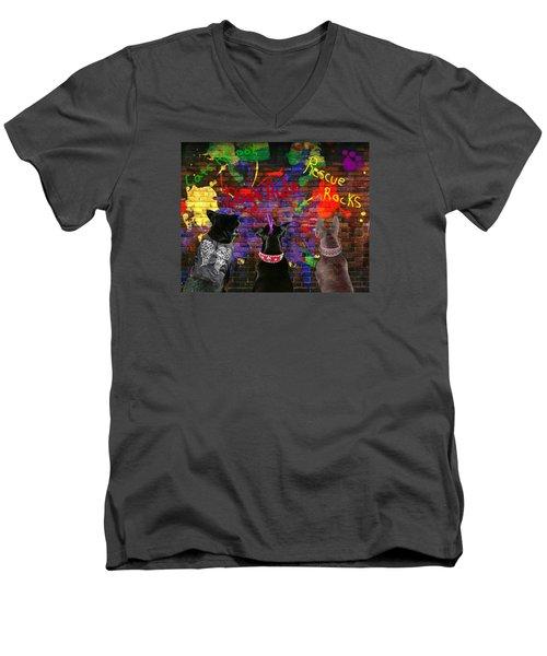 Bad Dogs Men's V-Neck T-Shirt