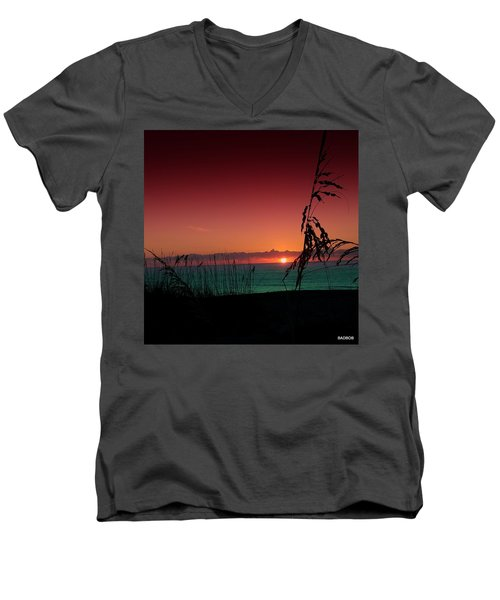 Bad East Coast Sunrise  Men's V-Neck T-Shirt