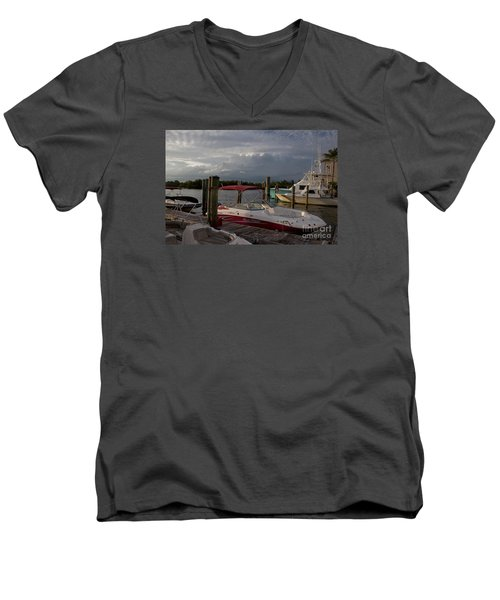 Men's V-Neck T-Shirt featuring the photograph Bad Kitty by Ivete Basso Photography