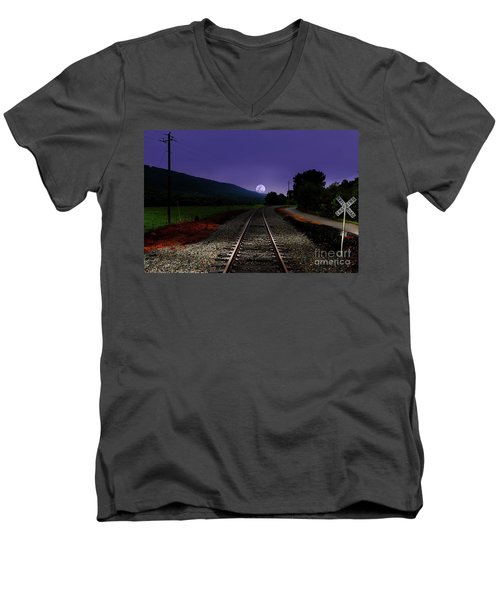 Bad Moon Rising Men's V-Neck T-Shirt