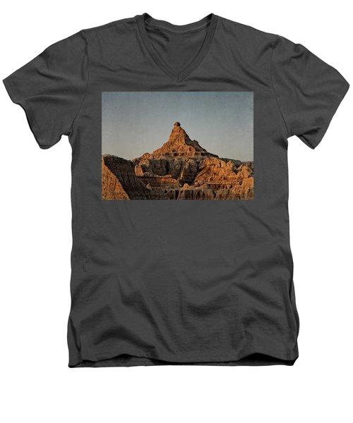 Badlands At Sunrise Men's V-Neck T-Shirt