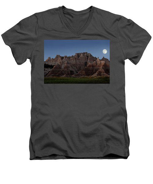 Badlands Moon Rising Men's V-Neck T-Shirt
