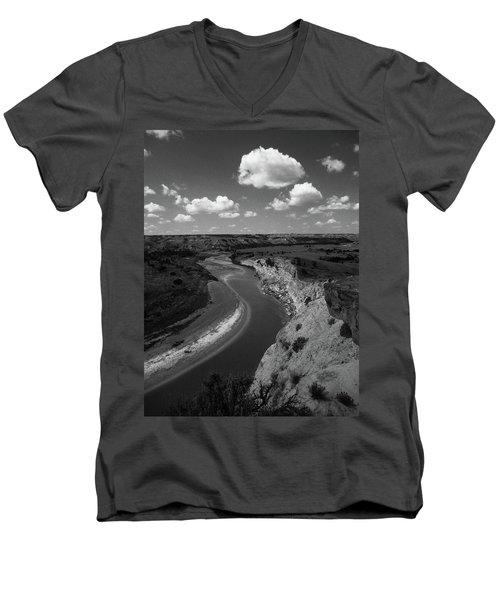 Badlands, North Dakota Men's V-Neck T-Shirt by Art Shimamura
