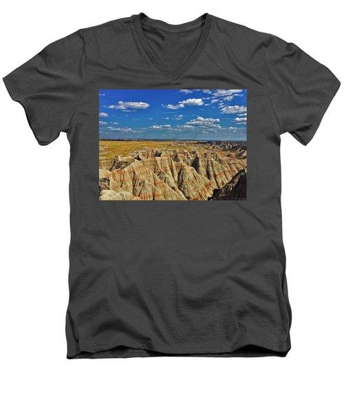 Badlands To Plains Men's V-Neck T-Shirt