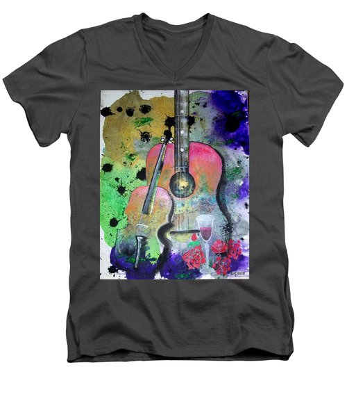 Badmusic Men's V-Neck T-Shirt