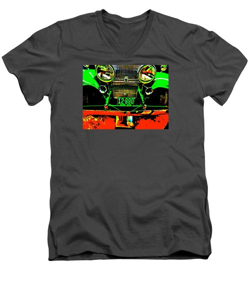 Bahre Car Show II 21 Men's V-Neck T-Shirt by George Ramos