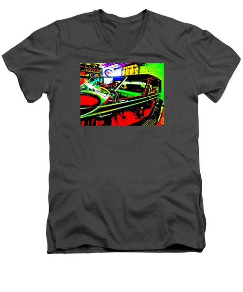 Bahre Car Show II 31 Men's V-Neck T-Shirt by George Ramos