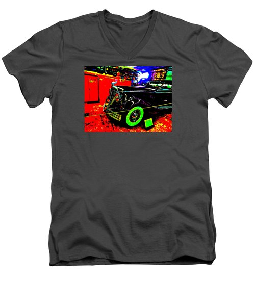 Bahre Car Show II 32 Men's V-Neck T-Shirt by George Ramos