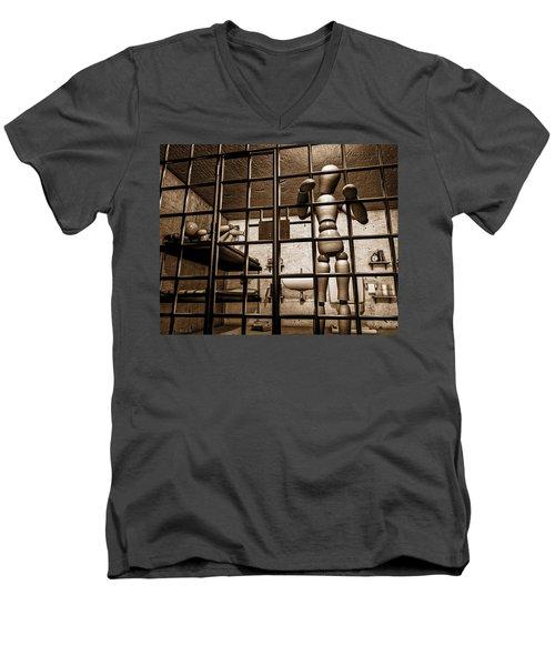 Bail Denied  Men's V-Neck T-Shirt by Bob Orsillo