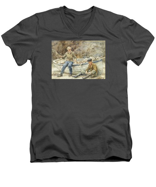 Bailing A Spiller Men's V-Neck T-Shirt