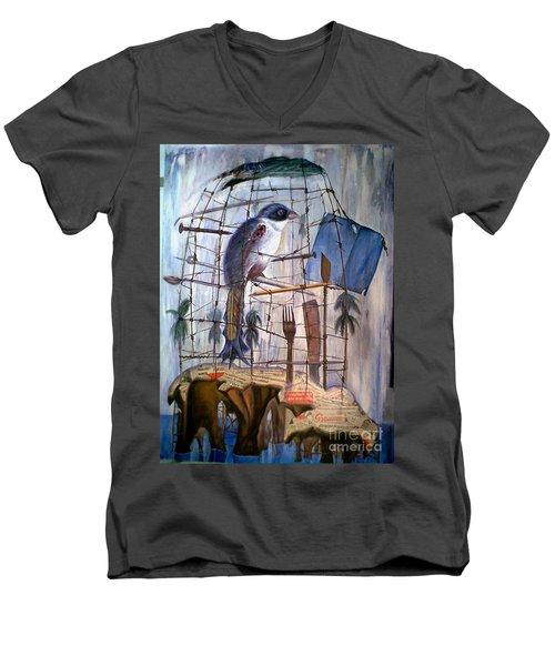 Bajo Mis Propias Alas Men's V-Neck T-Shirt