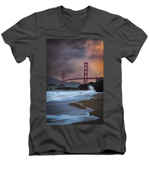Baker's Beach Men's V-Neck T-Shirt