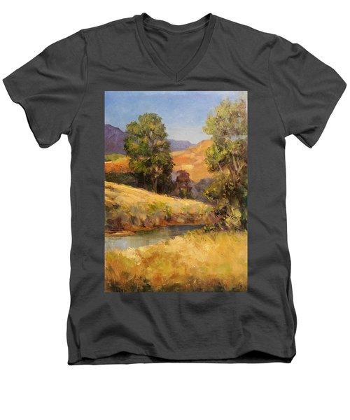 Bakesfield Creek Afternoon Men's V-Neck T-Shirt