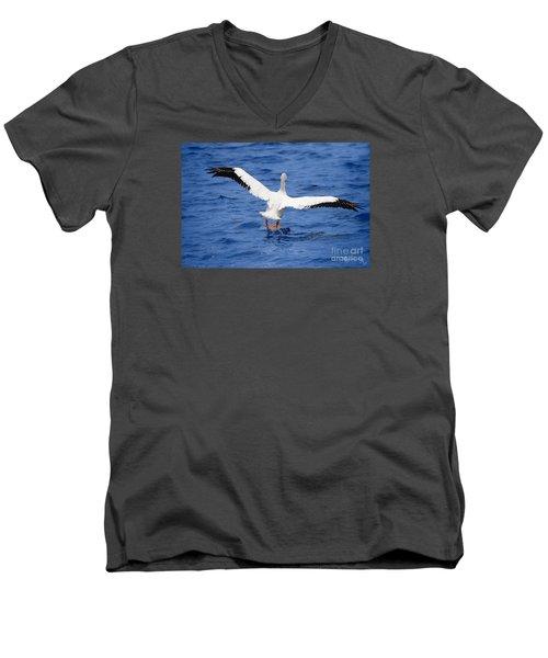 Balancing Act Men's V-Neck T-Shirt by Mariarosa Rockefeller