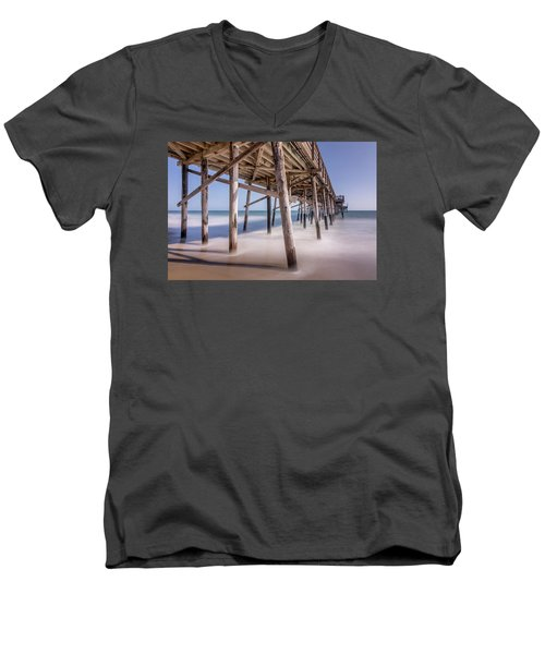 Men's V-Neck T-Shirt featuring the photograph Balboa Pier by Jeremy Farnsworth