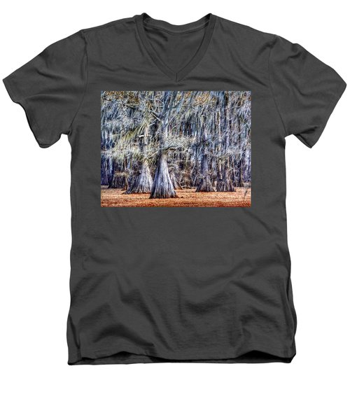 Bald Cypress In Caddo Lake Men's V-Neck T-Shirt