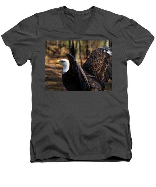 Bald Eagle Preparing For Flight Men's V-Neck T-Shirt
