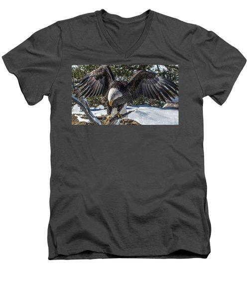 Bald Eagle Spread Men's V-Neck T-Shirt