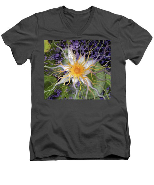 Bali Dream Flower Men's V-Neck T-Shirt by Christopher Beikmann