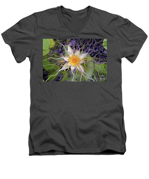 Bali Dream Flower Men's V-Neck T-Shirt