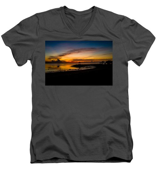 Bali Sunrise I Men's V-Neck T-Shirt by M G Whittingham