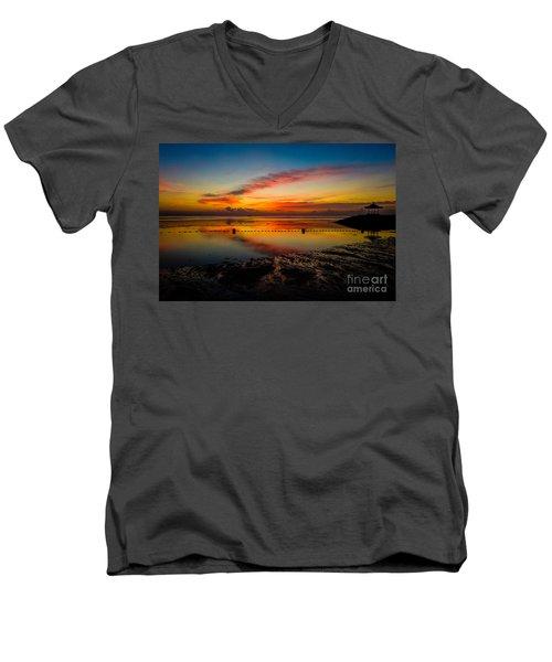Bali Sunrise II Men's V-Neck T-Shirt by M G Whittingham