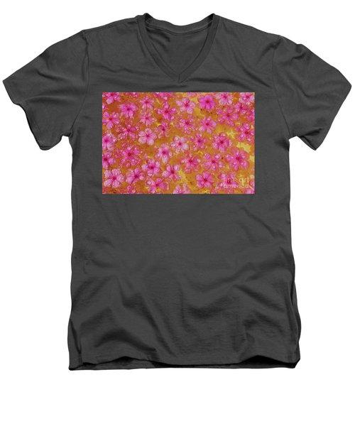 Balinese Flowers Men's V-Neck T-Shirt by Cassandra Buckley