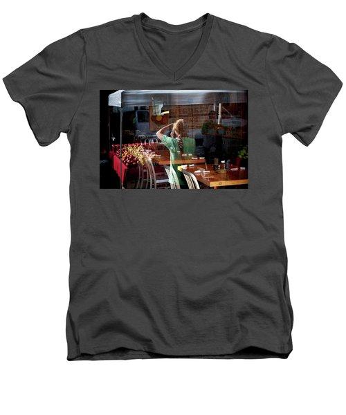 Ballard Market #2 Men's V-Neck T-Shirt