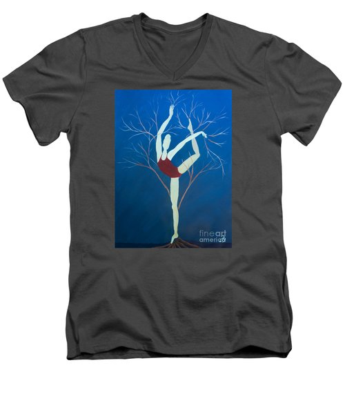 Ballerina Tree Men's V-Neck T-Shirt