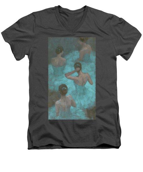 Ballerinas In Blue Men's V-Neck T-Shirt