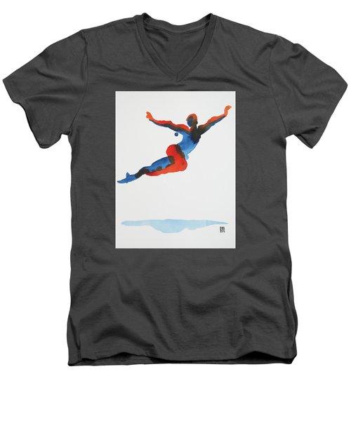 Ballet Dancer 1 Flying Men's V-Neck T-Shirt by Shungaboy X