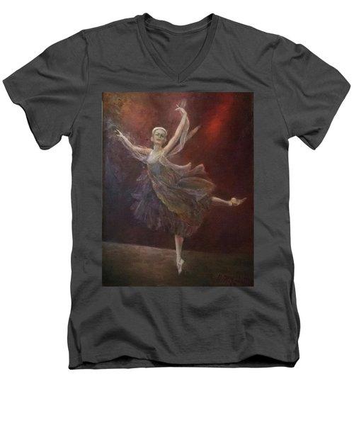 Ballet Dancer Anna Pavlova Men's V-Neck T-Shirt