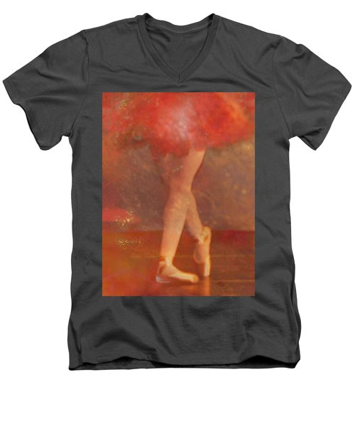 Ballet Dancer Men's V-Neck T-Shirt by Catherine Alfidi