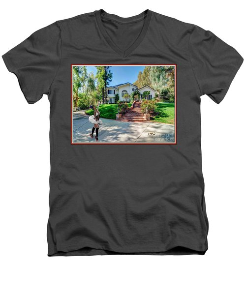 Ballet On Skates 12bos1 Men's V-Neck T-Shirt