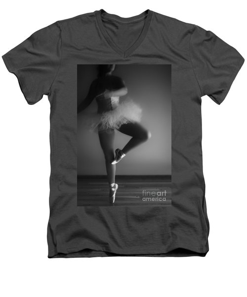 Ballet Slippers Men's V-Neck T-Shirt