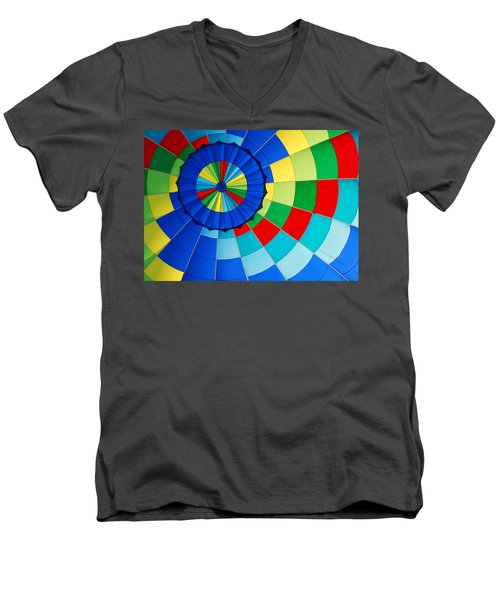 Balloon Fantasy 8 Men's V-Neck T-Shirt by Allen Beatty