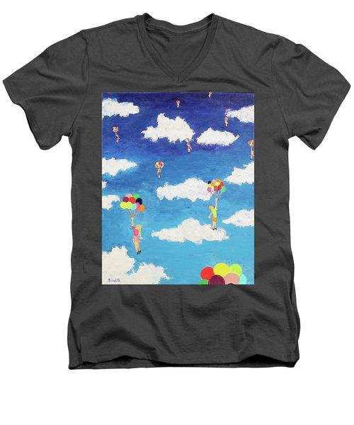 Balloon Girls Men's V-Neck T-Shirt